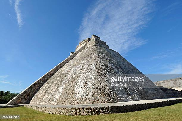 CONTENT] The Pyramid of the Magician is a step pyramid with elliptical base and steep rounded sidesLocation ancient Mayan city of Uxmal UNESCO World...