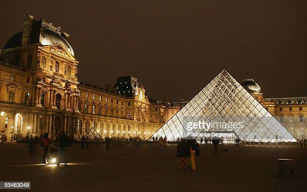 The Pyramide of the Louvre museum designed by IM Pei is seen on August 24 2005 in Paris France Dan Brown is the author of numerous bestsellers...