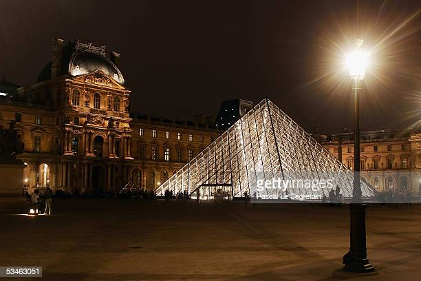 The Pyramide of the Louvre museum designed by I.M. Pei is seen on August 24, 2005 in Paris, France. Dan Brown is the author of numerous bestsellers,...