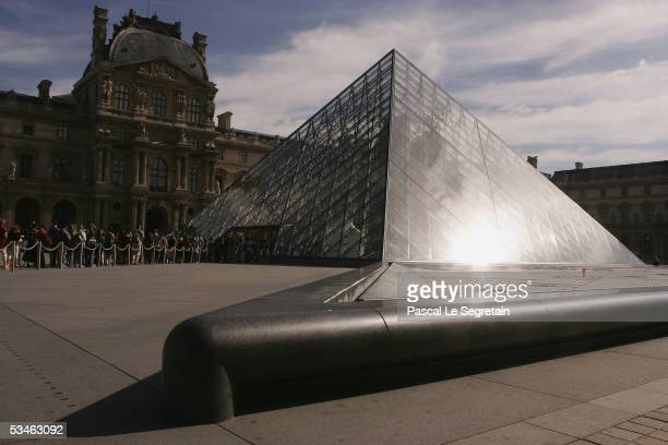 The pyramide of the Louvre museum is seen on August 24 2005 in Paris France Dan Brown is the author of numerous bestsellers including Digital...