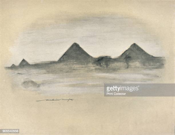 'The Pyramids' 1903 From World Pictures by Mortimer Menpes Text by Dorothy Menpes [A C Black London 1903] Artist Mortimer L Menpes
