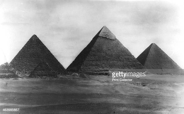 The Pyramids at Giza Egypt 1949 The Pyramid of Khafre is in the centre