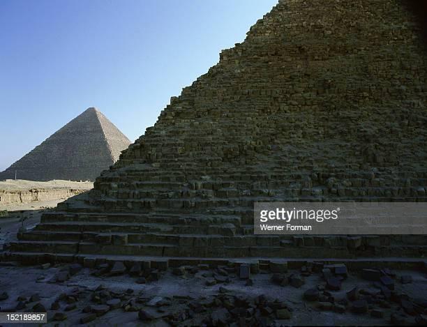 The pyramids at Giza Egypt Ancient Egyptian Old Kingdom Giza
