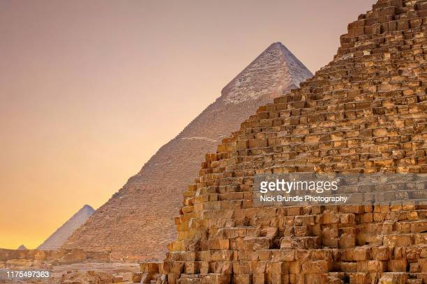 the pyramids, giza, cairo,egypt - giza stock pictures, royalty-free photos & images