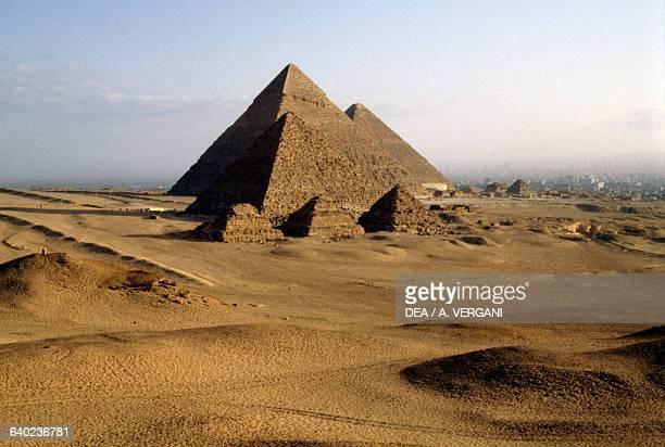 The Pyramids Giza Necropolis Egypt Egyptian civilisation Old Kingdom Dynasty IV