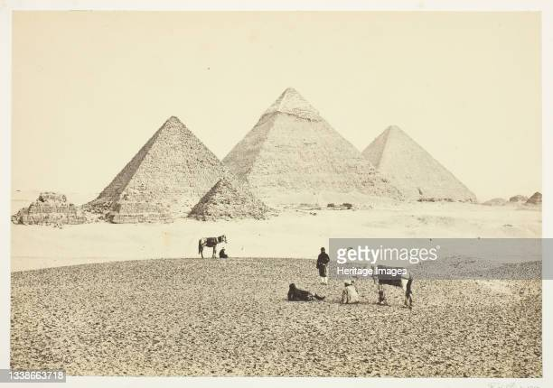 The Pyramids of El Geezeh, from the Southwest, 1857. Albumen print. Artist Francis Frith.