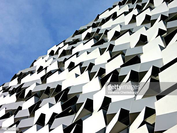 The Q Park car park, Charles Street, Sheffield. Known as 'The Cheesegrater'.