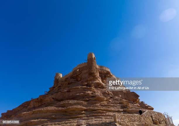 The qasr zabau2019al stands on a tall rock spur overlooking the ancient village AlJawf Province Sakaka Saudi Arabia on January 19 2010 in Sakaka...