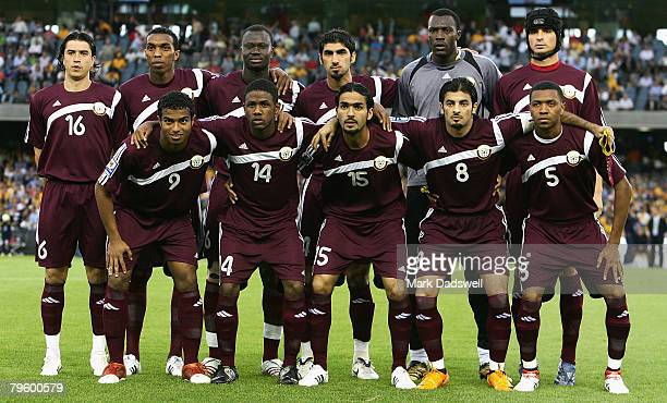 The Qatar team pose for a team photo during the 2010 FIFA World Cup qualifying match between the Australian Socceroos and Qatar at the Telstra Dome...