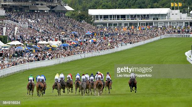 The Qater King George Stakes field during Qatar Goodwood Festival 2016 at Goodwood on July 29, 2016 in Chichester, England.