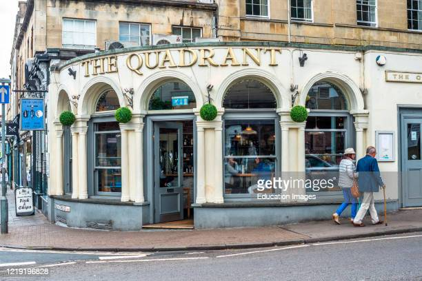 The Quadrant on the corner of Princess Victoria St and Clifton down rd in Clifton Village Bristol England UK