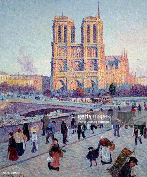 The Quai SaintMichel and NotreDame Painting by Maximilien Luce 1901 Oil on canvas 073 x 060 m Orsay Museum Paris