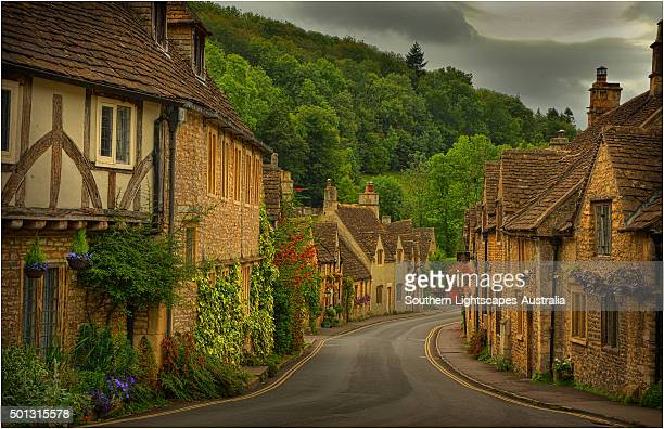 The quaint, historic and picture-book village of Castle Combe, Wiltshire, England