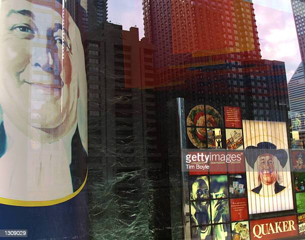 The Quaker Oats man logo in displayed in Quaker Oats Co.''s headquarters December 4, 2000 in Chicago. PepsiCo Inc. Has struck a deal to buy the...