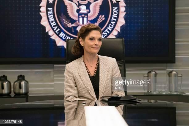 BLINDSPOT The Quantico Affair Episode 403 Pictured Mary Elizabeth Mastrantonio as Madeline Burke