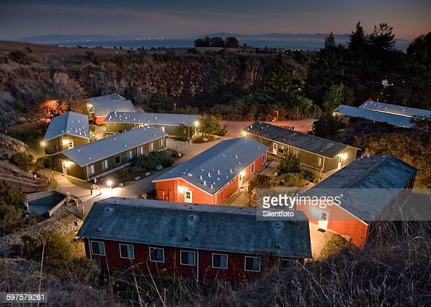 the quarry village housing community uc santa cruz - barracks stock pictures, royalty-free photos & images