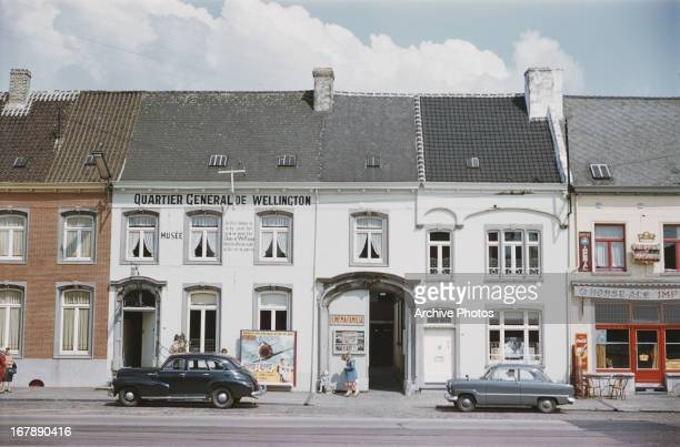 The Quartier General de Wellington Cafe in Waterloo, Belgium, circa 1957.