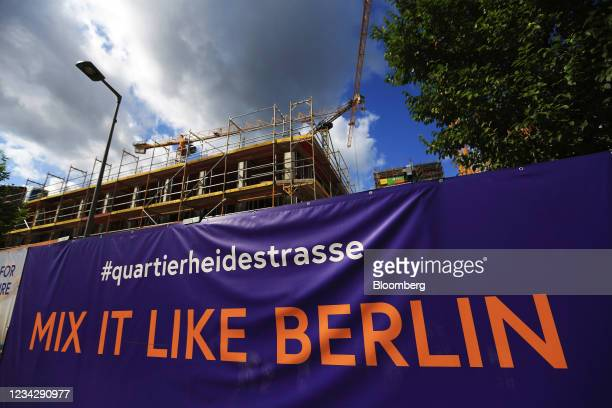 The Quartier Heidestrasse residential building project in Berlin, Germany, on Thursday, July 29, 2021. Germany reports gross domestic product figures...