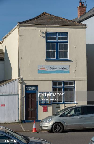 The Quay Appledore North Devon England UK The small library and visitor center on the quayside of this popular Devonshire town