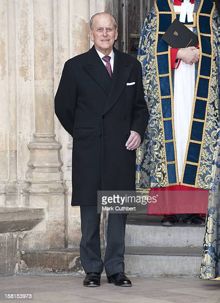 The Queen Accompanied By The Duke Of Edinburgh Attend The Annual Commonwealth Day Observance Service At Westminster Abbey London