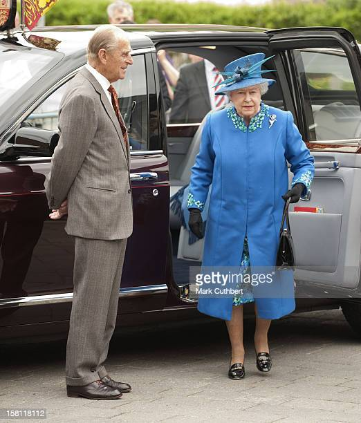The Queen, Accompanied By The Duke Of Edinburgh, Visit The Farmers Market At Welshpool Town Hall, Including The Viewing Of Stalls Follwed By A...