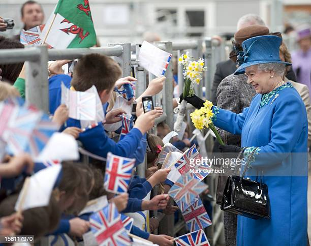 The Queen, Accompanied By The Duke Of Edinburgh, Visit The Welshpool Livestock Market, Including Viewing The Livestock Penning Area As Well As...