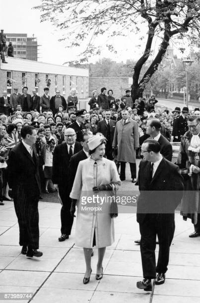 The Queen and Duke arrive at Kenrick House Birmingham 24th May 1963