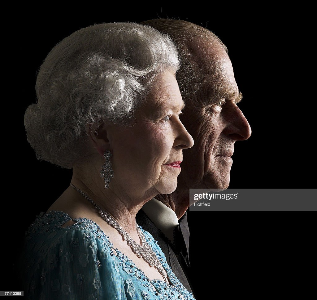 HM The Queen and HRH The Duke of Edinburgh at Buckingham Palace on 26th November 2001. Part of a series of photographs taken to commemorate the Golden Jubilee in 2002. (Photo by Lichfield/Getty Images).