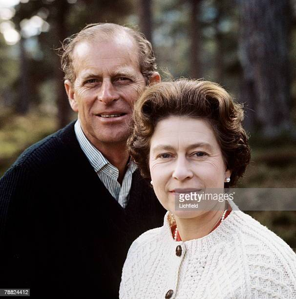 HM The Queen and HRH The Duke of Edinburgh on the Estate at Balmoral Castle Scotland during the Royal Family's annual summer holiday 22nd August 1972...