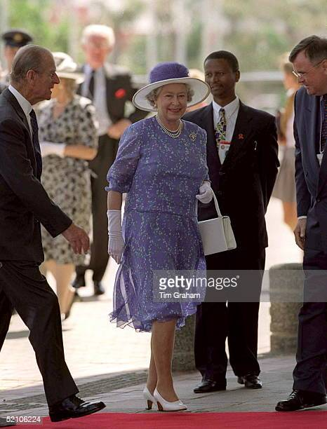 The Queen And Prince Philip Arriving For The Chogm Opening Ceremony At The International Convention Centre Durban South Africa