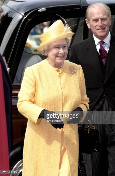 The Queen And Prince Philip Arriving For The Royal Maundy Service At Westminster Abbey In London During The Service The Queen Will Distribute 'maundy...