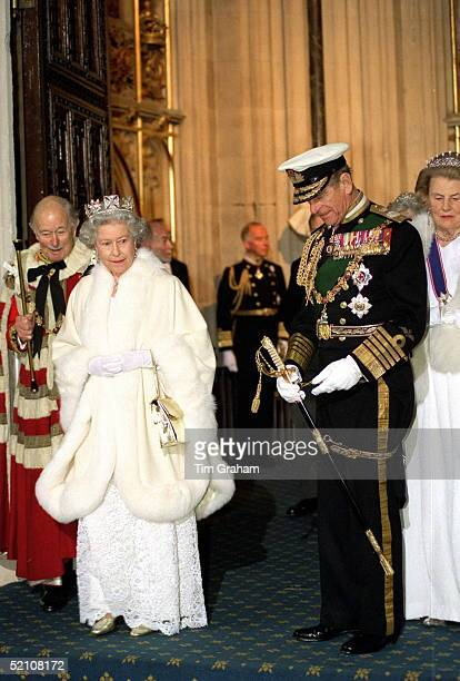 The Queen And Prince Philip At The House Of Lords For The State Opening Of Parliament.
