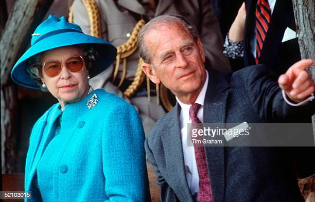 The Queen And Prince Philip During An Official Tour Of Hungary