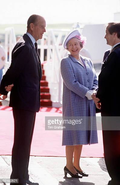 The Queen And Prince Philip In Aberdeen At The Start Of Their Holiday In Scotland