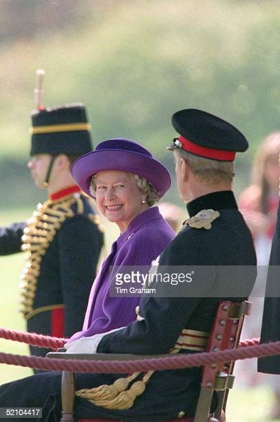 The Queen And Prince Philip Inspect The King's Troop Royal Horse Artillery At A Special Royal Review To Mark Its Jubilee In Regent's Park London