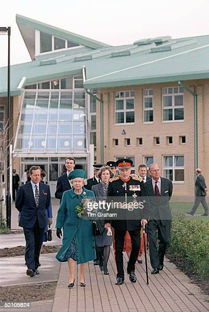 The Queen And Prince Philip On A Visit To Durrington High School In Worthing West Sussex