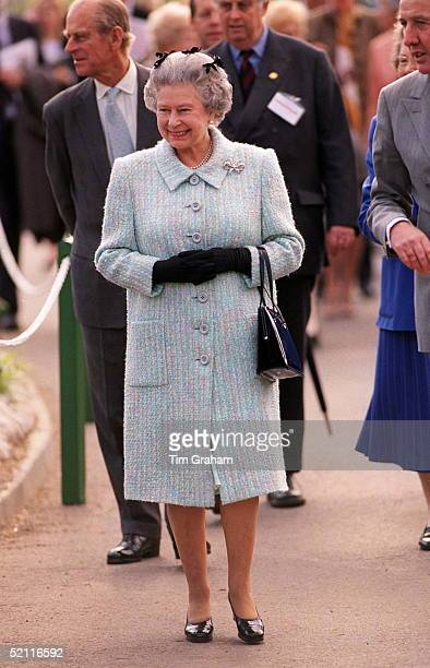 The Queen And Prince Philip Visiting The Chelsea Flower Show In London