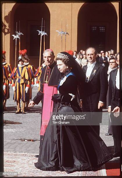 The Queen And Prince Philip Visiting The Vatican City During An Official Tour Of Italy They Are Awaiting An Audience With The Pope