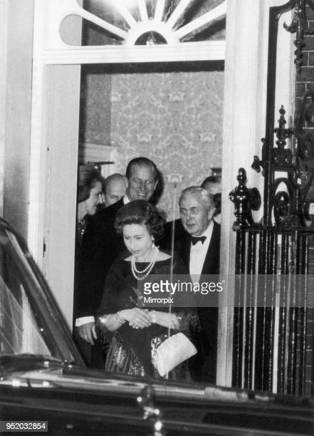 The Queen and Prince Philip were guests at the Prime Ministers official residence No 10 Downing Street The occasion was a farewell dinner given by...