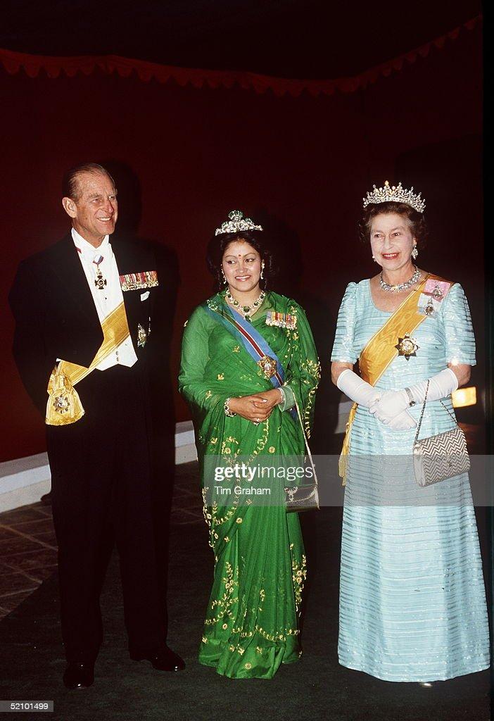 Queen Philip Queen Nepal : News Photo
