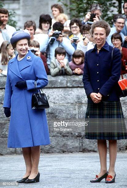 The Queen And Princess Anne At Balmoral.