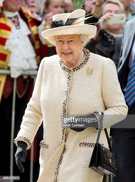 The Queen and The Duke of Edinburgh attend a Service at Chelmsford Cathedral as part of the centenary celebrations of Chelmsford Diocese on May 6...