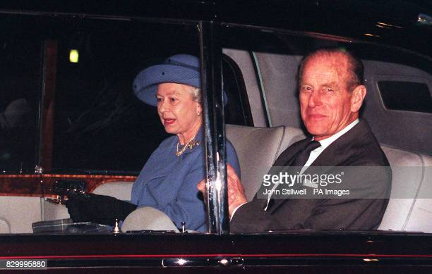 The Queen and the Duke of Edinburgh leave Buckingham Palace after news broke that Princess Margaret had suffered a mild stroke on Monday night while...