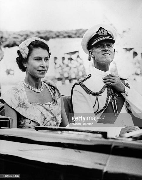 The Queen and the Duke of Edinburgh set off for Brisbane during their 1954 visit to Australia