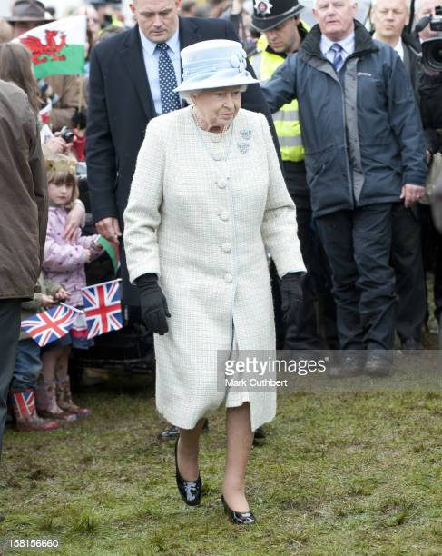 The Queen And The Duke Of Edinburgh Visit Glanusk Park, Near Crickhowell, Wales To Attend 'Diamonds In The Park' A Festival Of Rural Activities And...