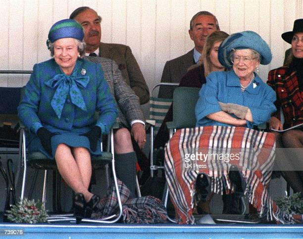 The Queen and the Queen Mother attend the 1993 Braemar Highland gathering September 4 1993 in Ballater England Buckingham Palace announced March 30...