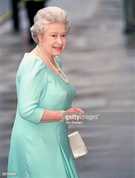 The Queen Arriving At The Royal Opera House In Covent Garden For A Celebration Of Her Mother's 101st Birthday