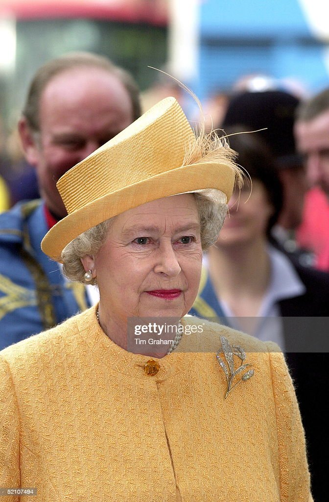 Queen Yellow Hat For Maundy : News Photo