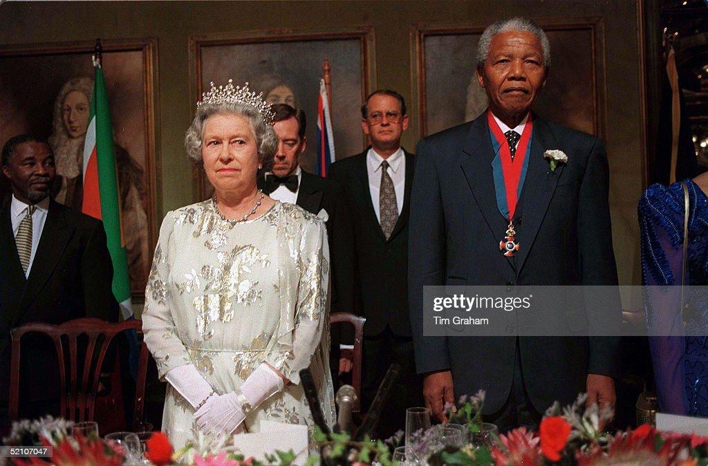 Queen And Mandela Banquet : News Photo