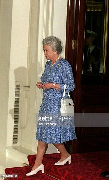 The Queen At Buckingham Palace During A State Visit